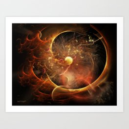 Born in the Vortex ~ The New Machine Art Print