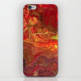 Acrylic Pour #45 Lava-Love iPhone Skin