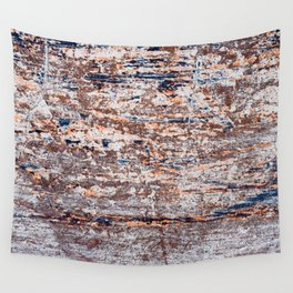 Old Boat Blue Wall Tapestry