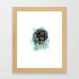 AZTEC WARRIOR SKULL SQUARE Framed Art Print