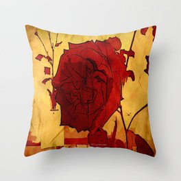 2nd Place Rose - 024 Throw Pillow