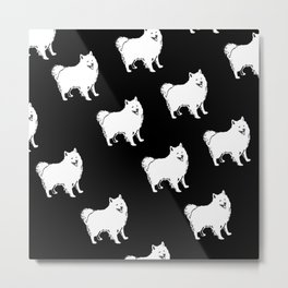 American Eskimo Dog Breed Pattern Metal Print
