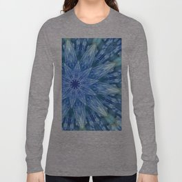 Sweetly Romantic Blue Kaleidoscope Long Sleeve T-shirt