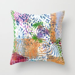 Printed Patchwork Throw Pillow