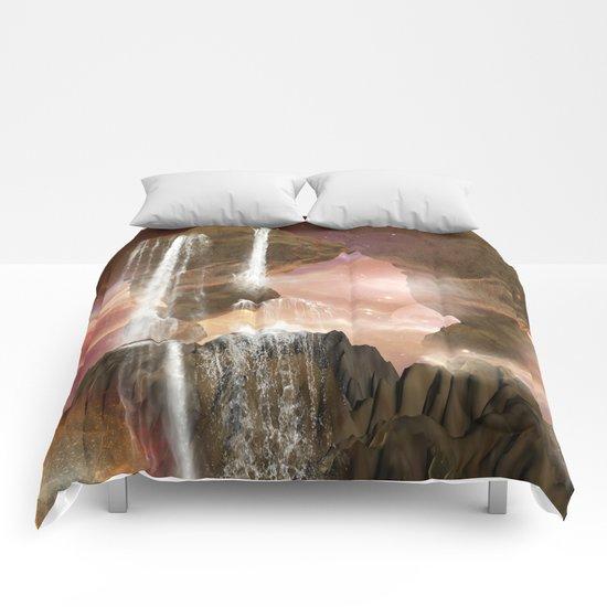 Fantasy landscape  Comforters