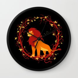 King of African Wilderness Wall Clock