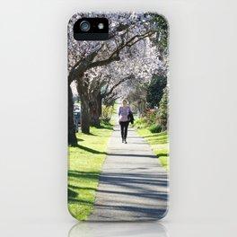 Cherry Blossom Sidewalk iPhone Case