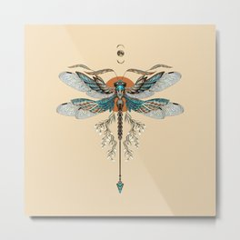 Dragonfly Tattoo Metal Print