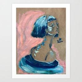 Blue Swirl Art Print