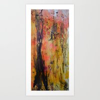 Dusk in the Willow Art Print
