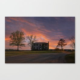Old House at Sunset Canvas Print
