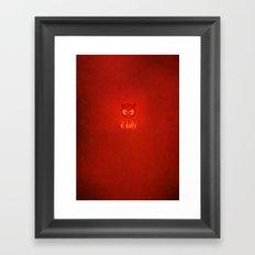 el diablo Framed Art Print
