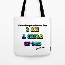 I am a Child of God-Style 2 Graphic Design Tote Bag