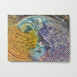 Manifestation of a Conscious Mind Metal Print