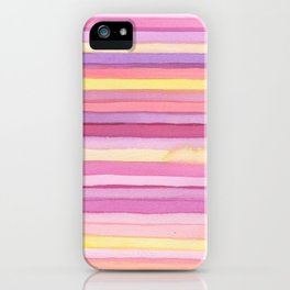 Pink stripes. iPhone Case