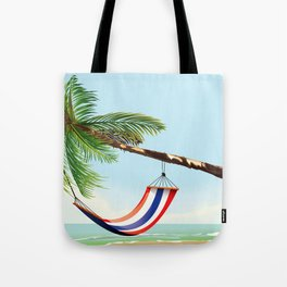puerto rico hammock beach poster Tote Bag