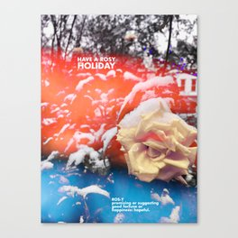 Rosy Holiday Canvas Print