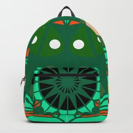 the blossoming of a forest mandala Backpack