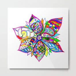 Crazy Flower Metal Print