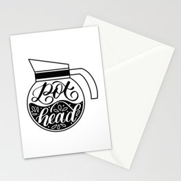 Pot Head - Coffee Lover Stationery Cards