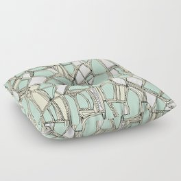 BROKEN POP mint Floor Pillow