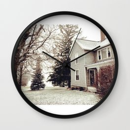 Winter Wonderland in Michigan Wall Clock