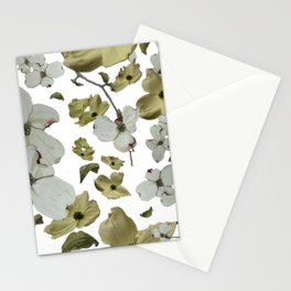 Dogwood Pedals on White Stationery Cards