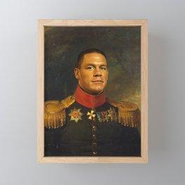 John Cena - replaceface Framed Mini Art Print