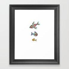 The Swimming Ones Framed Art Print