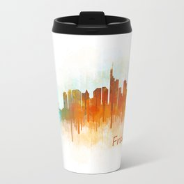 Frankfurt am Main, City Cityscape Skyline watercolor art v3 Travel Mug