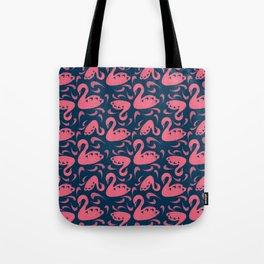 Cygne (Block cut swans) Tote Bag