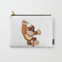Illustration of Cartoon Monkey Carry-All Pouch