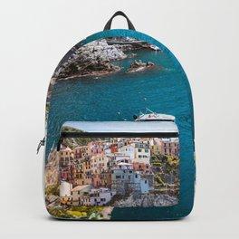 Santorini Port landscape Backpack