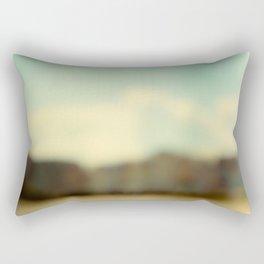 Blurry Beach Houses  Rectangular Pillow