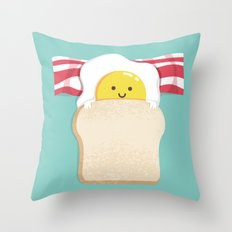 Morning Breakfast Throw Pillow