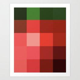 Colorscape: Strawberry Art Print