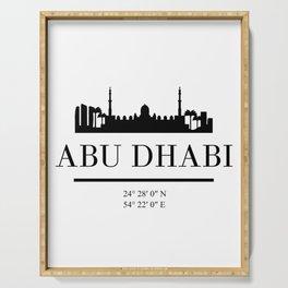 ABU DHABI UAE BLACK SILHOUETTE SKYLINE ART Serving Tray