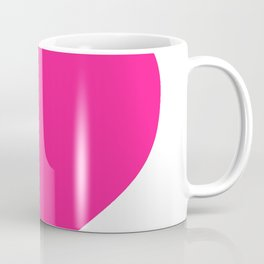 Heart (Dark Pink & White) Coffee Mug