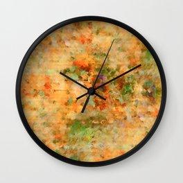 Orange Fall Wall Clock