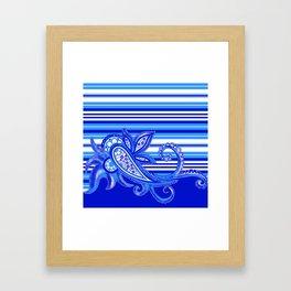 Pacific Stripe: Lapis  Framed Art Print