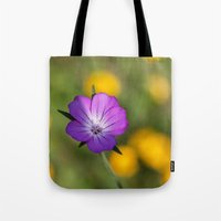 alone Tote Bags featuring Alone by David Tinsley