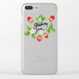 Strawberry jam Clear iPhone Case