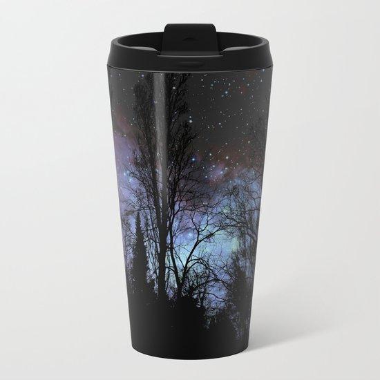 Black Trees Dark Space Metal Travel Mug