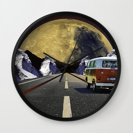 Driving Into Space Wall Clock