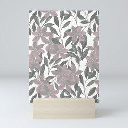 Dusty Pink Vintage Florals Mini Art Print