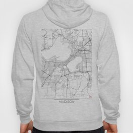 Madison Map White Hoody