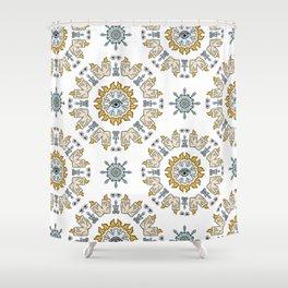 Sacred Esoteric Quartz Crystal Candle Magic Shower Curtain