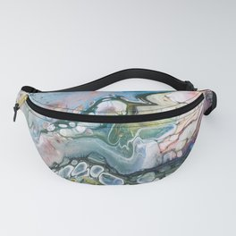 Sea and Land Acrylic Abstract Painting Fanny Pack