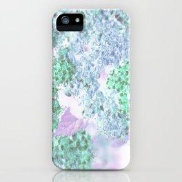 Flower poetry iPhone Case