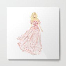 The Pink Dress Metal Print